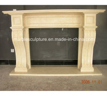 Beige Simple Style Marble Fireplace (SY-MF225)