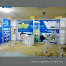 Shanghai exhibition booth construction aluminum panels trade show display