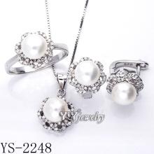 Venta al por mayor joyería de plata esterlina conjunto de perlas 925 plata (ys-2248)