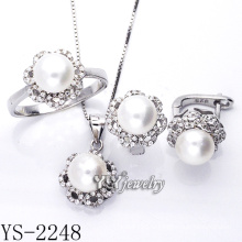 Оптовый стерлинговый серебр ювелирных изделий перлы установил серебр 925 (YS-2248)