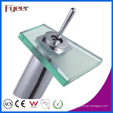 Fyeer Single Lever Handle Glass Waterfall Basin Mixer Tap