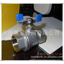 SUS 304 2PC Stainless Steel Floating Ball Valve
