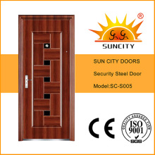 Indian Main Door Design Metal Security Door (SC-S005)