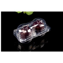 disposable transparent 2 pack apple fruit box