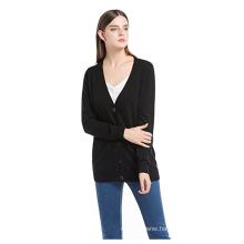 PK18A65HX Women's Long Sleeve Cashmere Cardigan Sweater