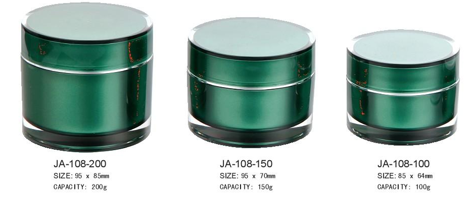 Round Acrylic Cream Jar With Lid 200g/150g/100g/50g/30g/15g/5g