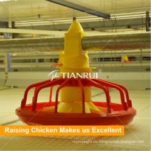 Sistema automático de alimentación de pollos de engorde para jaula de pollo tipo H
