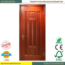 Puerta de madera redonda madera Sapelly puerta Simple puerta de madera