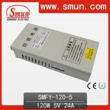Alimentação de comutação de LED à prova de chuva de 120W 5V 24A