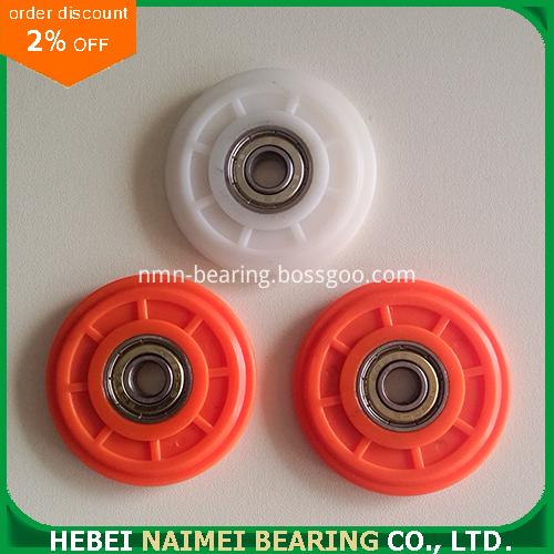 V track plastic roller