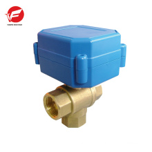 2-way motorized automatic ball powder flow 3/2 direction control valve