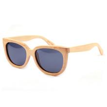 óculos de sol de bambu olho de gato com seu logotipo