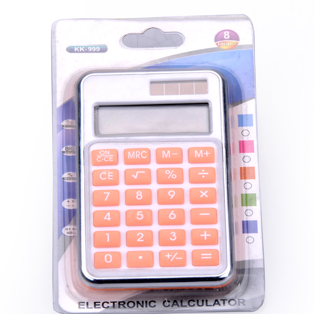 Dual Power 8 Digit Mini Calculadora de Bolsillo Personalizada