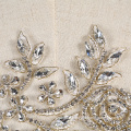 New collection fashional crystal and rhinestone flower motif RM377