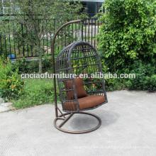 Mobiliário de exterior pendurado cadeira de balanço de ferro