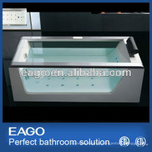 Double Glass Panel Acrylic Whirlpool Massage Bathtub (AM152)