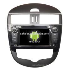 ANROID 4.4, voiture gps dvd de navigation pour nissan tiida avec Bluetooth, MIRROR-CAST, AIRPLAY, DVR, jeux, double zone, SWC