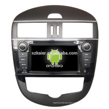 ANROID 4.4,car dvd gps navigation for nissan tiida with Bluetooth,MIRROR-CAST,AIRPLAY,DVR,Games,Dual Zone,SWC