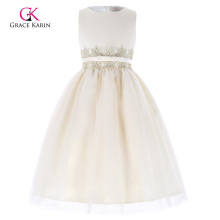 Grace Karin Sleeveless Tulle Netting Princess Wedding Flower Girl Dress 6~12Years CL010455-1