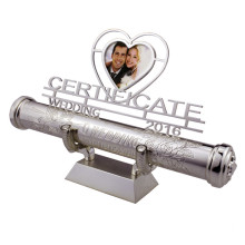 Wedding certificate holder with photo frame