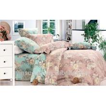 Große Blütenbettwäsche Set, Bettwäsche Set Baumwolle, Fuchsia Bettwäsche gesetzt