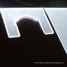 square round or customized shape LGP acrylic light panel with laser dot
