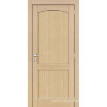 Unvollendete innen Eiche furniert gewölbt Top 2-Panel-moderne Holz Tür-design
