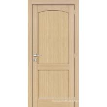 Inacabado Carvalho interior folheado arqueado topo design de porta de madeira moderno painel 2