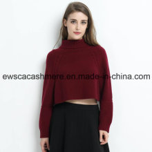Jersey de cachemira pura Lady Turtle Neck Solid Color