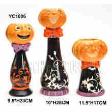 Handgemalter Kürbis Kerzenständer