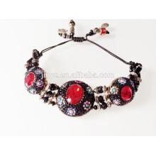 Vintage Rhinestone Beaded Boho Bracelet
