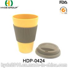 Различные цвета волокна бамбука кружка кофе кружка (ДПН-0424)