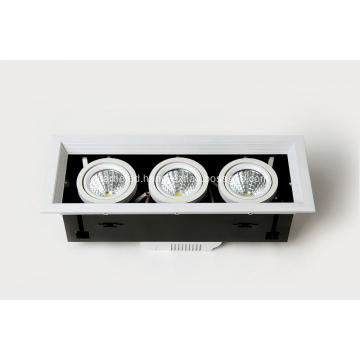 LED Grille light Three lamp series Beam angle 35°480-560LM Ra80 AC100-260V IP20