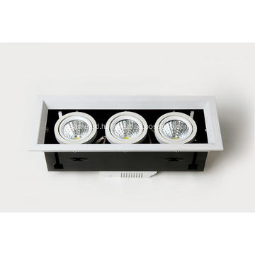 LED Grille light Three lamp series Beam angle 35°480-560LM Ra80 AC100-260V IP20