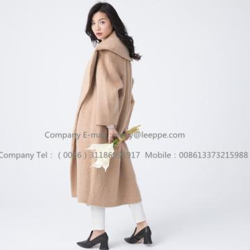 Kvinnor Cashmere Coat With Mohair