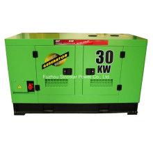 Звукоизолированный дизельный генератор Isuzu мощностью 20 кВт с водяным охлаждением