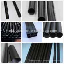 100% tubo de fibra de carbono, 3k sarga mate 100% real tubo de fibra de carbono doblado / boom para RC tubo de fibra de carbono doblado de Multicopter
