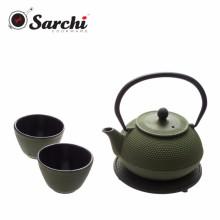 Популярный чугунный эмалевый чайник 0.8L с круглым заклепкой