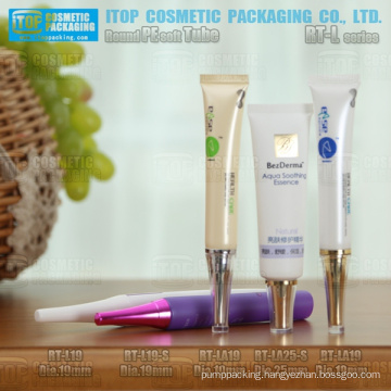 19mm and 25mm diameter delicate and attractive cosmetics essence packaging needle tip insert and long lid empty cream tube
