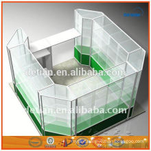 durable display rack shelf metal advertising display stands glass display cabinet