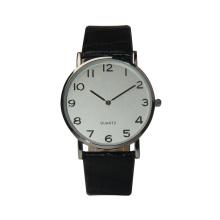 Relógio de quartzo do movt da correia do relógio do couro do relógio de pulso das mulheres com senhora