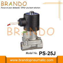 Válvula solenóide de vapor de aço inoxidável 1 '' PS-25J 24VDC