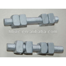 overhead line fitting double arming bolt