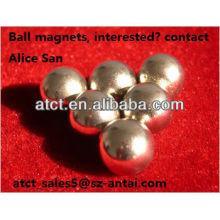 Powerful rare earth magnetizer ball neodymium magnet, bouncy ball,magnetic balls