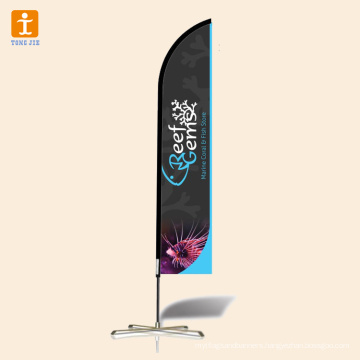 Durable double-sided beach banner banner