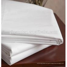 Hohe Zählung und hohe Dichte einfaches weißes Baumwollgewebe