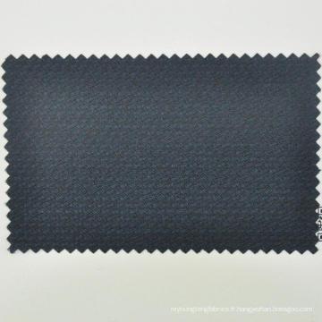 Dobby costume tissu pour la vente en gros bleu marine foncé