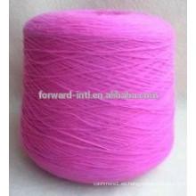 Poliéster por mayor para tejer calcetines de hilo rosa