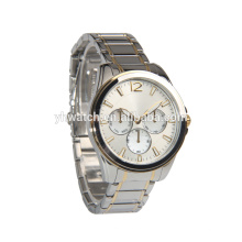 China supplier OEM quartz watch women fashion two tone gold boy watch