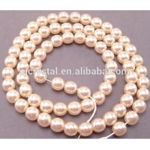 Conjunto de jóias de pérolas de vidro, wending pérolas de vidro vestido